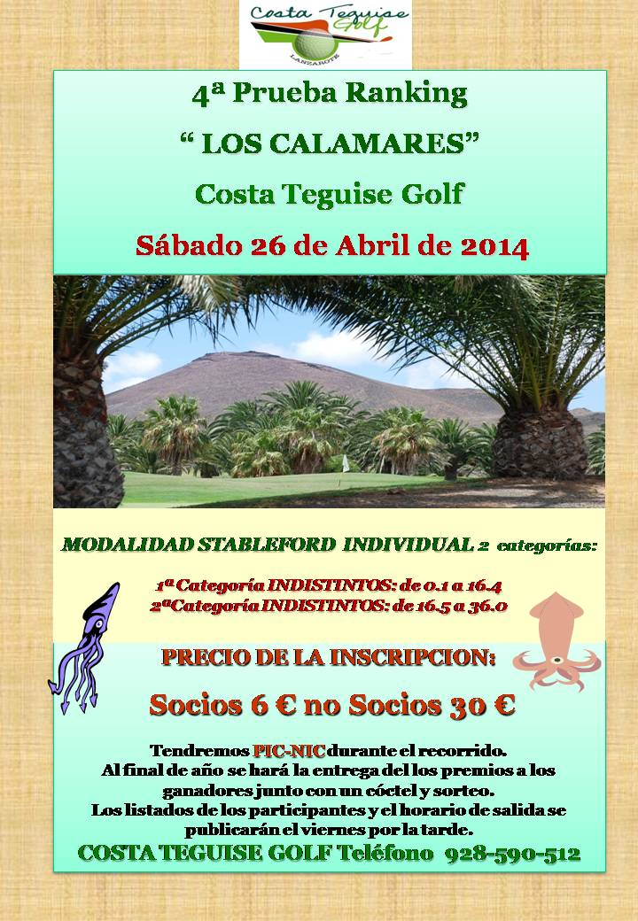 CARTEL G.T.GOLF