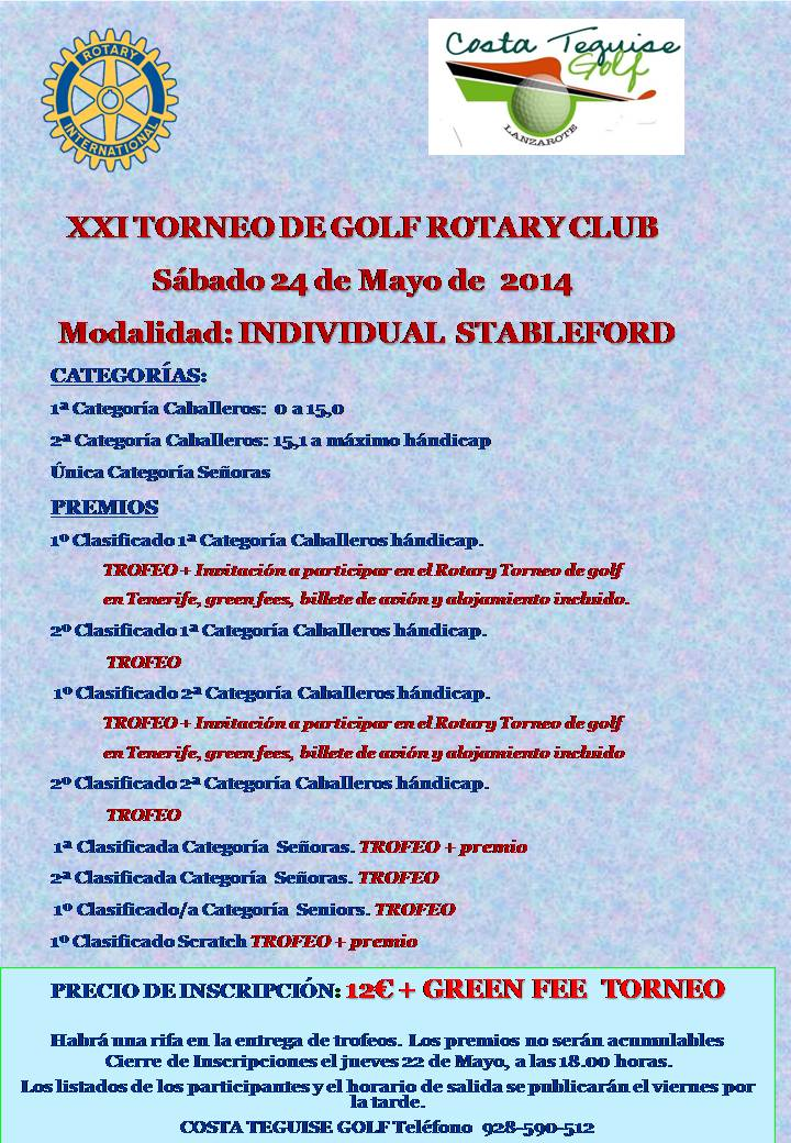 BASES DEL TORNEO ROTARY 2014
