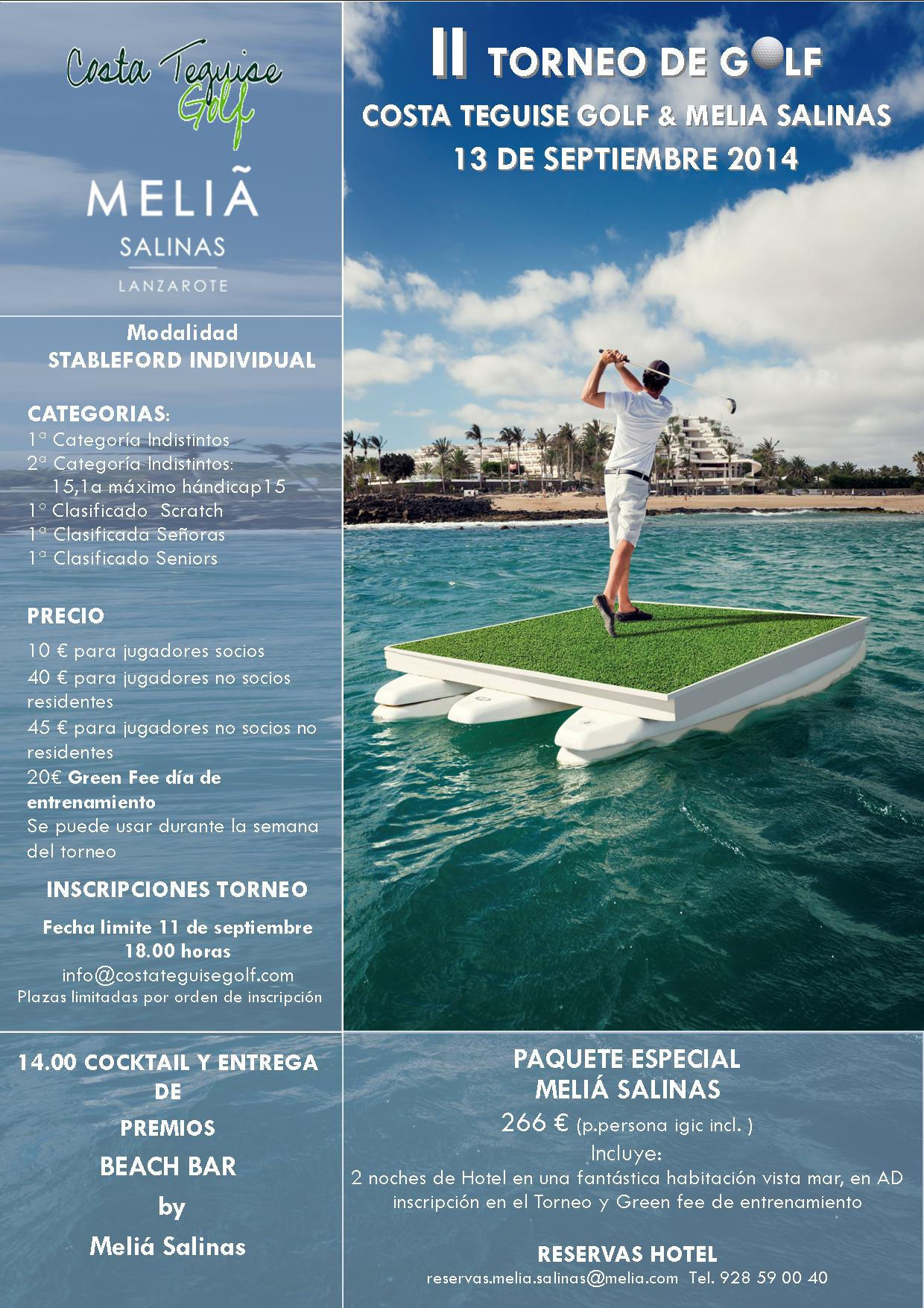 Cartel torneo de golf 2014 2