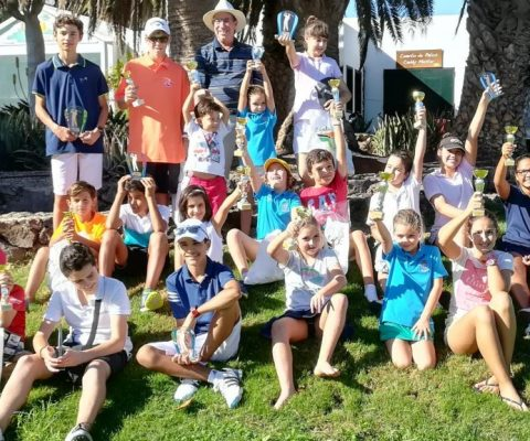The II Golf Children Tour 2017 of Lanzarote finished yesterday in Costa Teguise Golf
