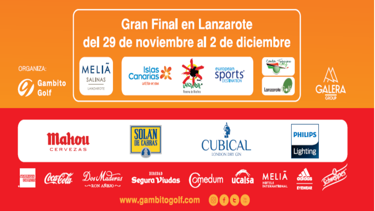 National Final of Gambito Premium Championship, Friday 30th of November in Lanzarote Golf and Saturday, 1st December in Costa Teguise Golf