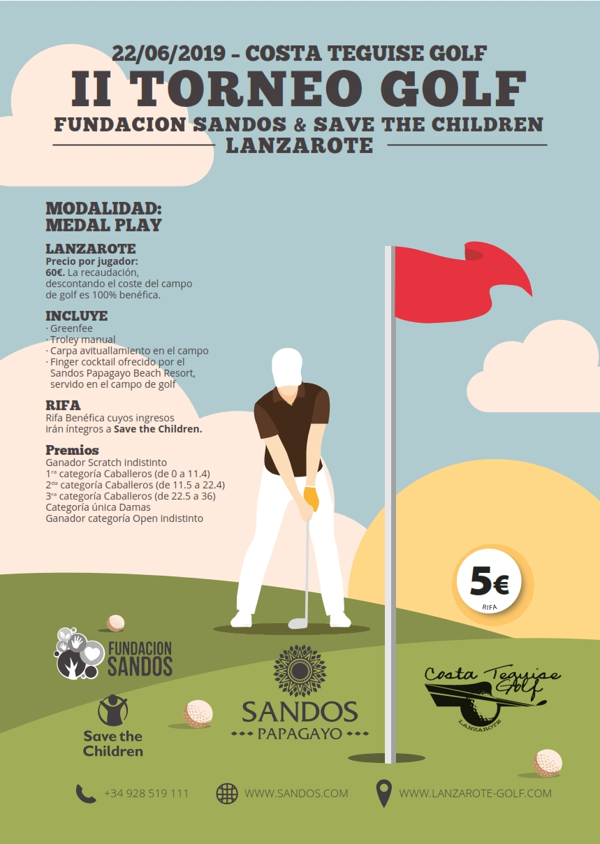 II Torneo Fundación Sandos & Save the Children sábado 22 de Junio 2019